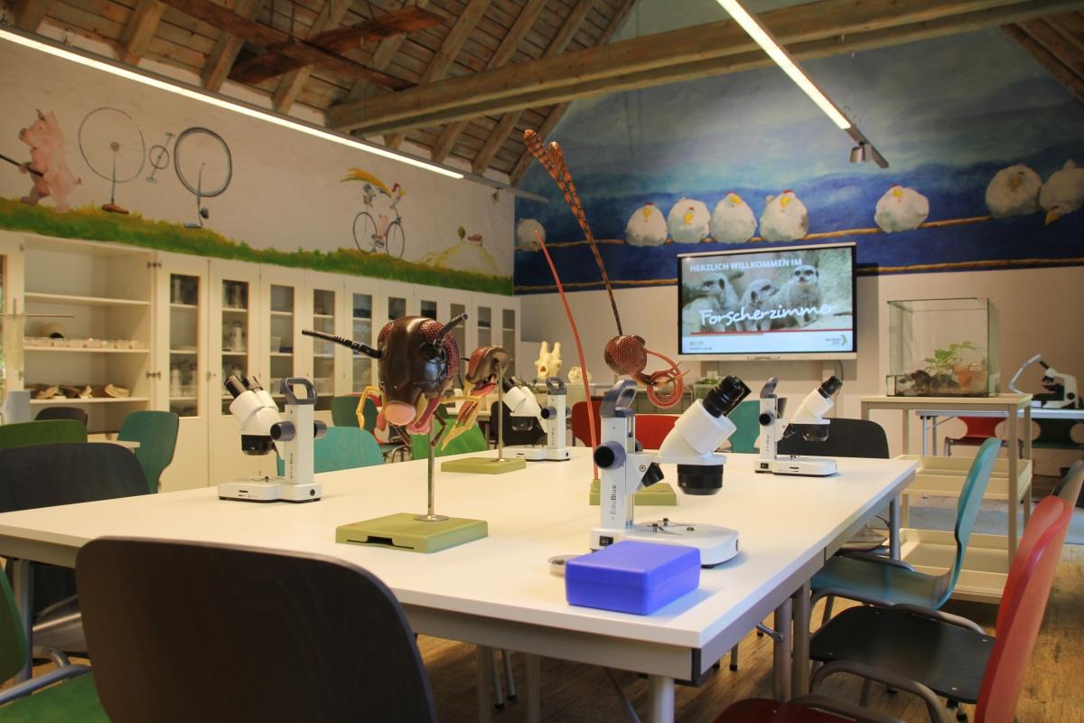 Das neue Forscherzimmer im Erlebnis-Zoo Hannover